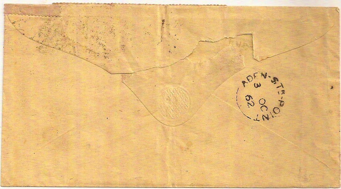 aden, yemen, india, colony, stamps on cover