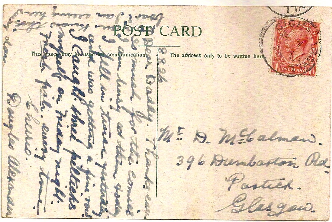 1926 GIGHA ARGYLL datestamp on RMS Pioneer picture postcard