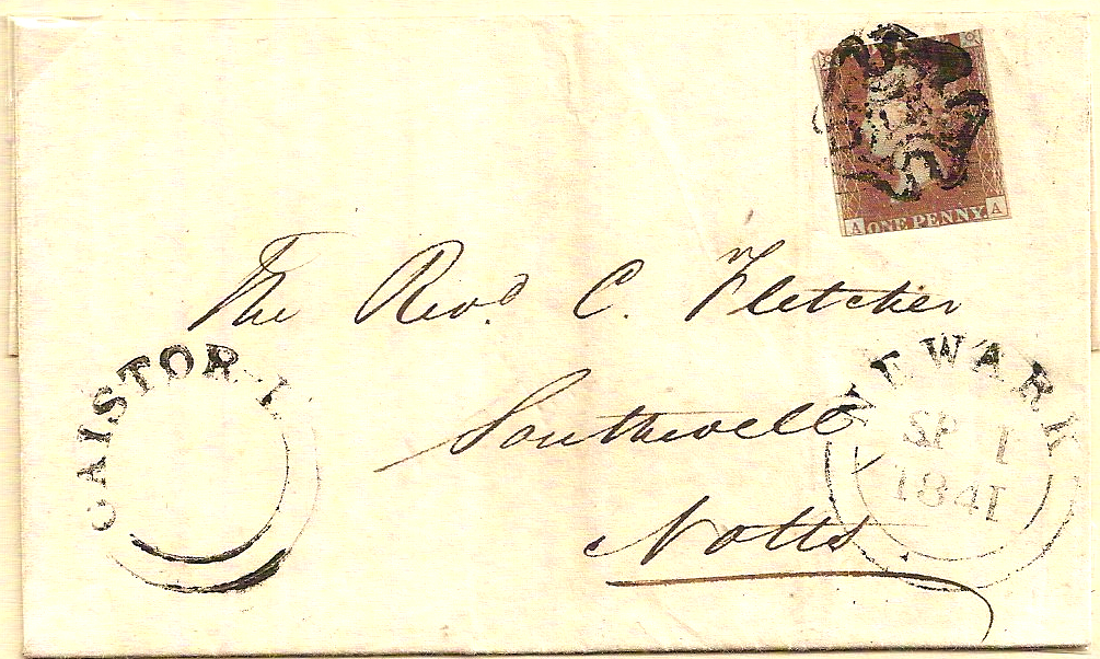 1841 Superb CAISTOR-L unseriffed udc Maltese Cross cover