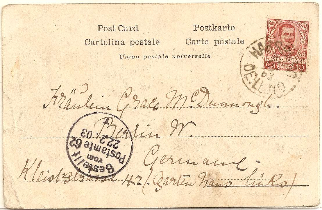1903 HABSBURG OE:LLOYD shipping cancel on Adriatic fisherman PPC